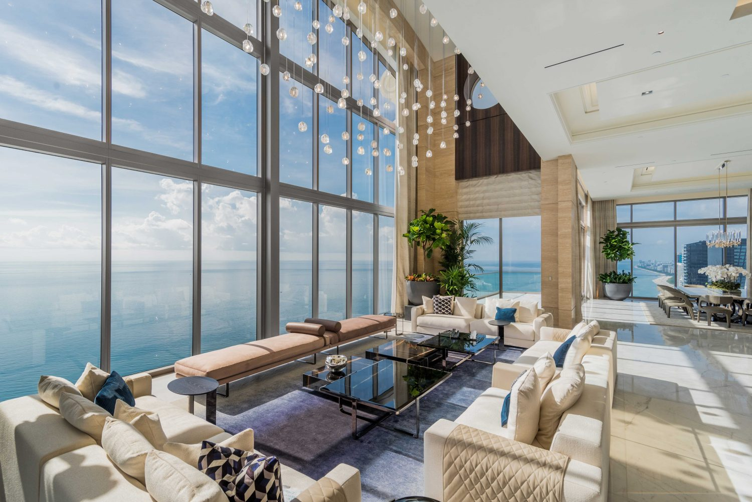 187 Living Large Sky High Luxury Penthouse Features Cantilevered Pool Over Collins Avenue